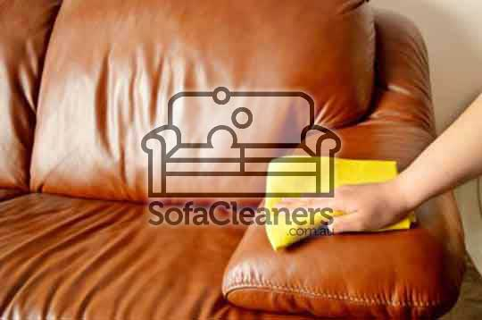 Brisbane brown home leather sofa cleaning
