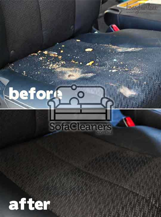 Mandurah car upholstery before and after cleaning