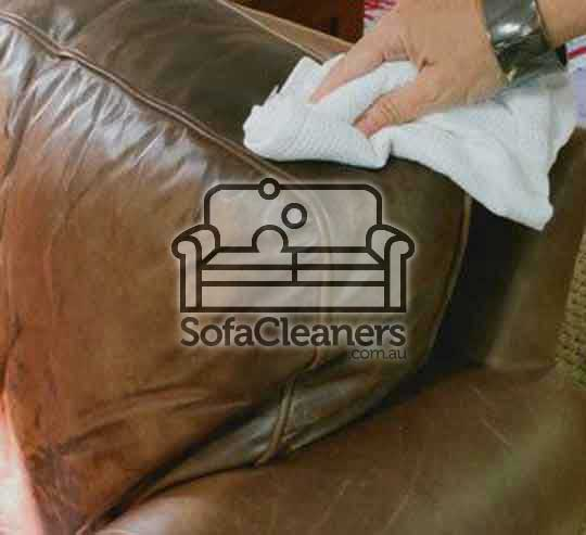cleaning brown leather couch