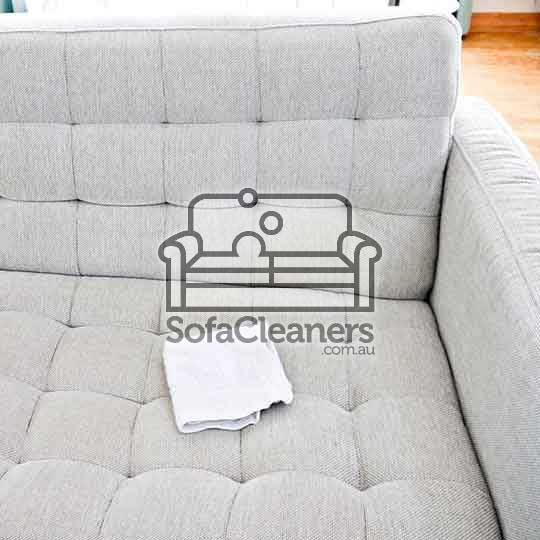 clean white fabric sofa