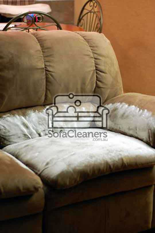 dirty sofa needed to be cleaned